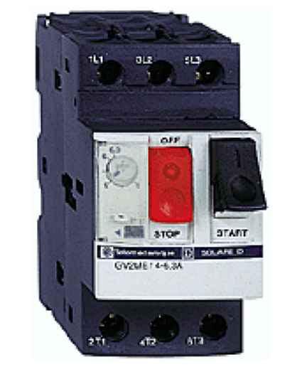 disjoncteur moteur GV2-ME - 2,5..4 A - 3P 3d - déclencheur magnéto-thermique